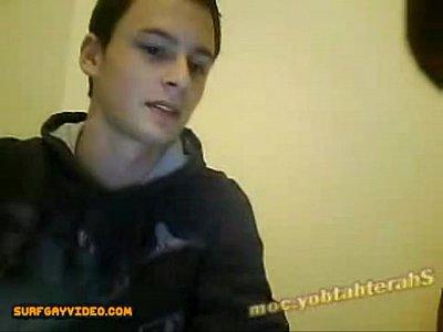 Homem batendo punheta na webcam